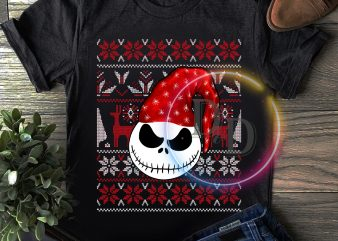 Ugly Jack Nightmare Merry Christmas t shirt sweaters