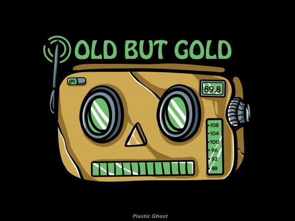 Old but gold vector shirt design