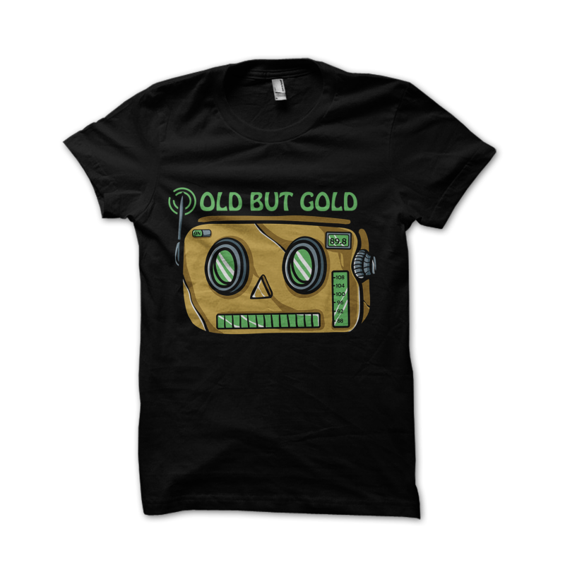 Old but gold t shirt designs for print on demand
