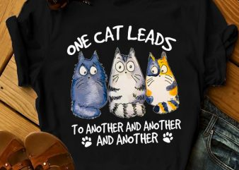 ONE CAT LEADS TO ANOTHER shirt design png