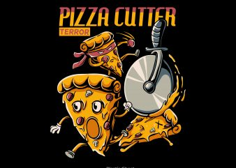 Pizza Cutter Terror t shirt design to buy
