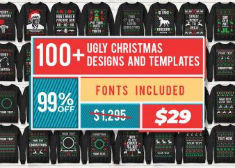 113 Ugly Christmas Templates Designs