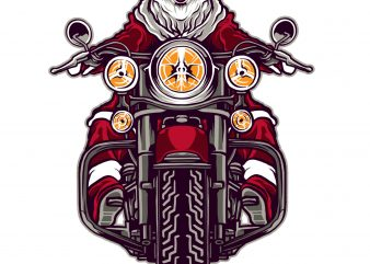 Riding Santa Claus t shirt design online