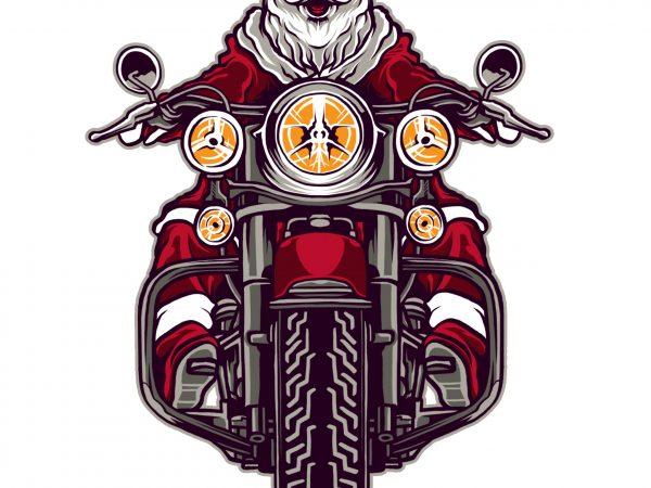 Riding Santa Claus t shirt design online