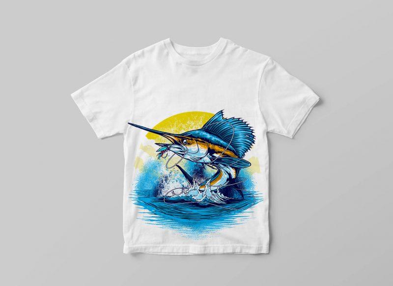 SAILFISH tshirt design for merch by amazon