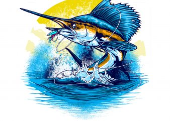 SAILFISH t shirt template vector