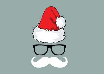 Cool Santa Christmas t shirt vector file
