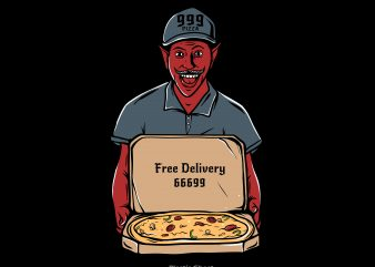 Pizza Deliveryman t shirt illustration