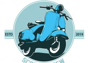 scooter crew t shirt template vector