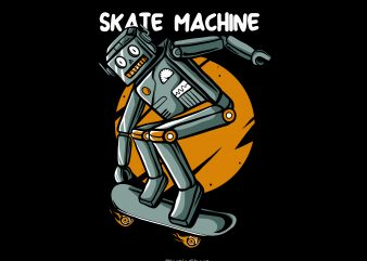 Skate machine t shirt template vector