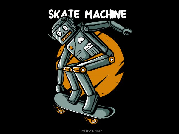Skate machine t shirt template vector