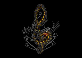 snake music t shirt template vector