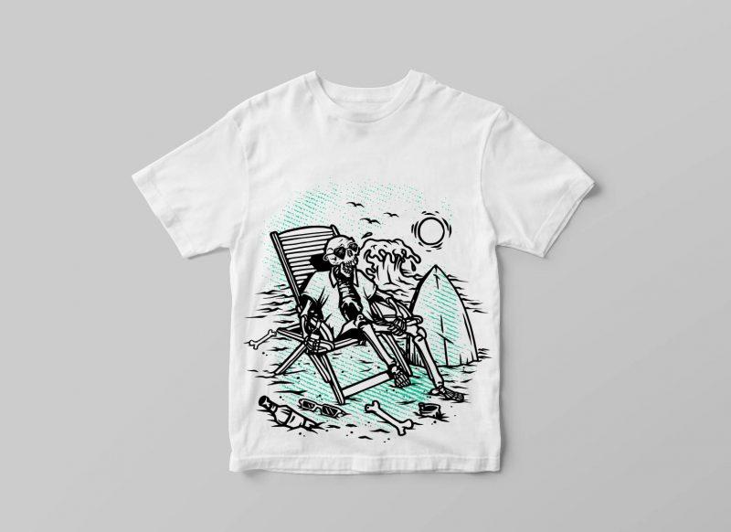 SURF t shirt designs for printify