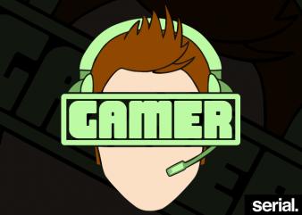 Gamer Guy T-Shirt Design