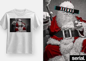 XXX Christmas T-Shirt Design