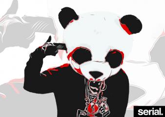 Gangster Panda T-Shirt Design
