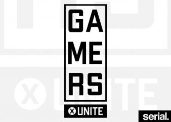 Gamers Unite T-Shirt Design