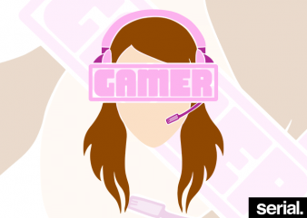 Gamer Girl T-shirt Design