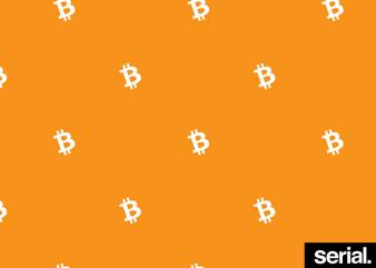 Bitcoin All-Over T-Shirt Design