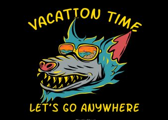 Vacation time vector shirt design