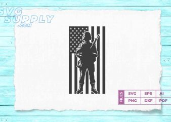 soldier silhouette png american flag detail buy t shirt design artwork