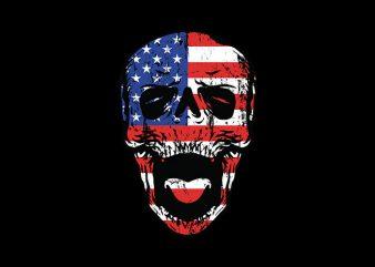 American Till Die print ready vector t shirt design