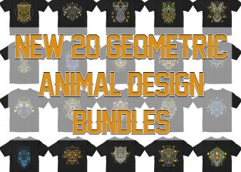 20 ANIMAL HEAD ORNAMENT GEOMETRIC V2