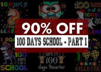 Super Cool 100 Days School Bundle – 55 Designs