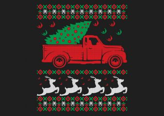 100% Pattern Ugly Christmas Sweater Design