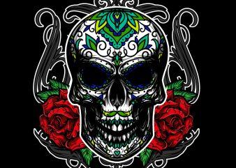 DIA DE LOS graphic t-shirt design