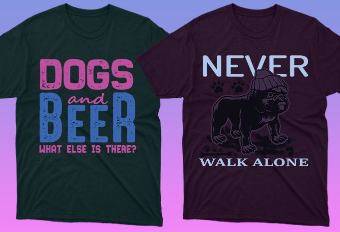 50 Dog Quotes Editable T shirt Designs Bundle
