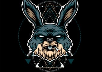RABIT HEAD GEOMETRIC t shirt design online