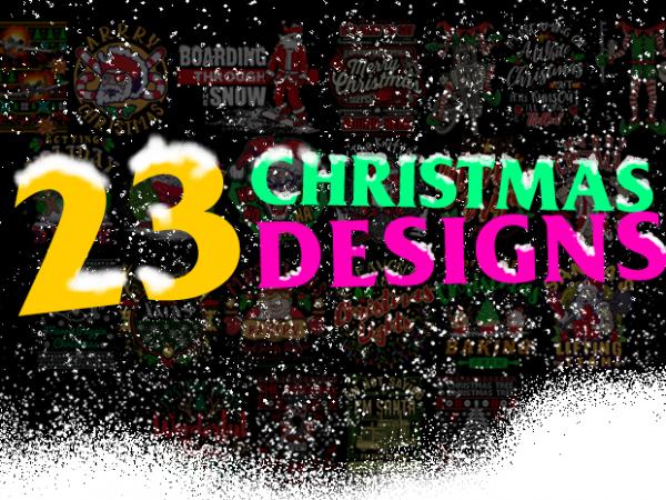 BUNDLE of 23 Christmas Designs
