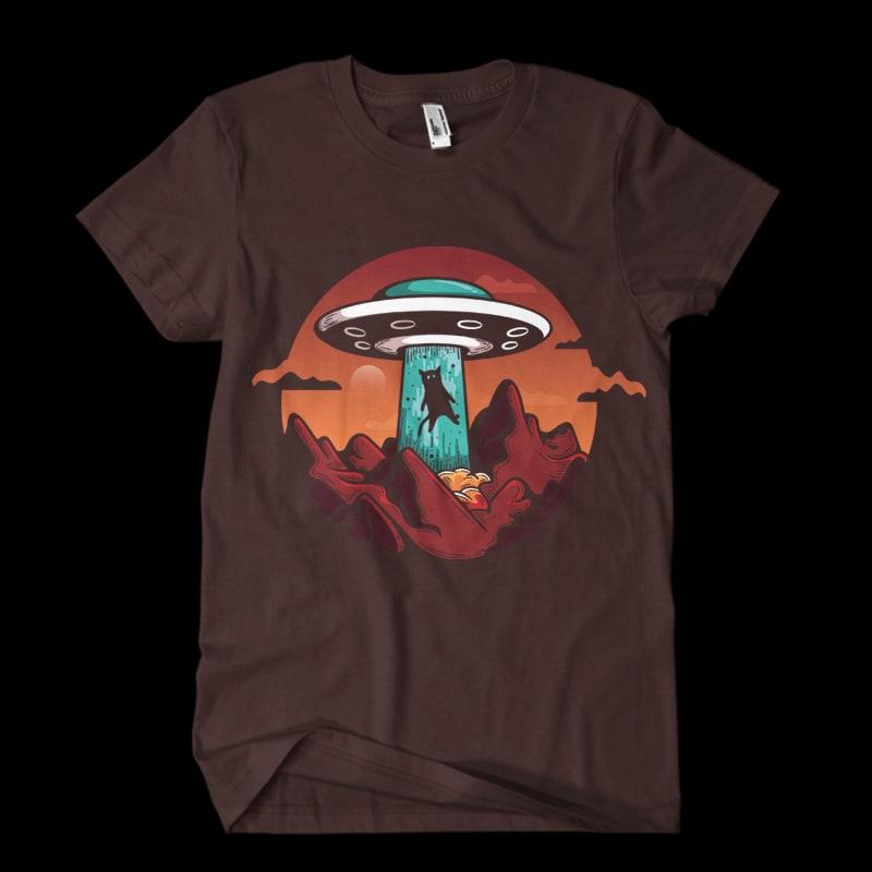 UFO Cat buy t shirt designs artwork