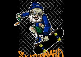 Old Man Skateboard t shirt design online
