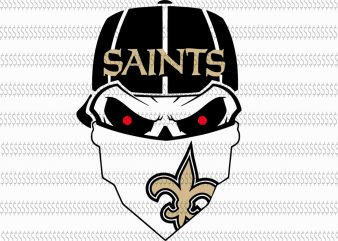 Skull new orleans saints svg,New Orleans Saints svg,New Orleans Saints,New Orleans Saints design