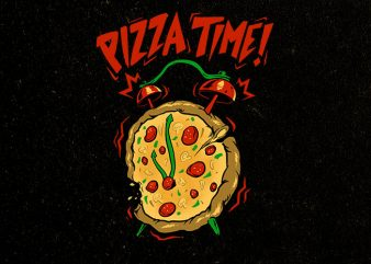 pizza time t-shirt design