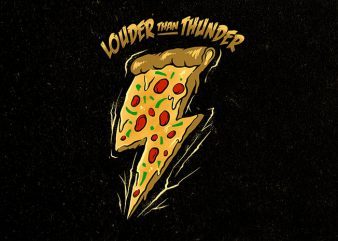 the power of pizza Graphic t-shirt design