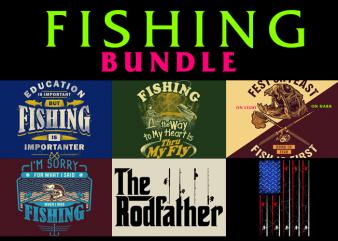 6 Fishing Designs BUNDLE