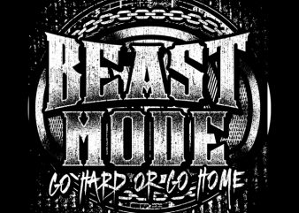 BEAST MODE t shirt design for sale