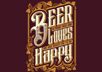 Beer God t shirt design for sale
