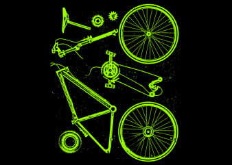 Bike Parts t shirt design for purchase