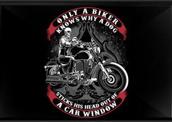 Biker Only vector t shirt design for download