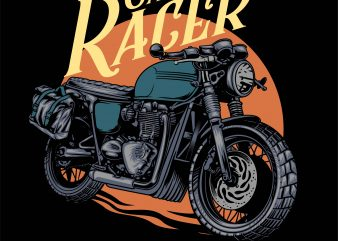 cafe racer 2 t shirt design for purchase