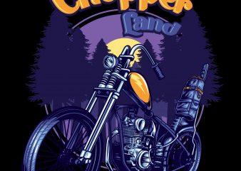 CHOPPER ARTWORK t shirt design to buy