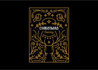 Christmas Holiday vector t shirt design for download
