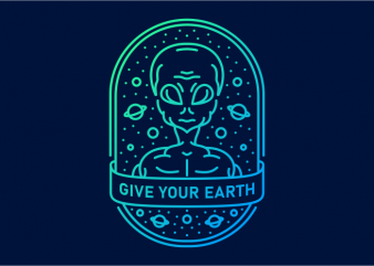 Give Your Earth buy t shirt design artwork