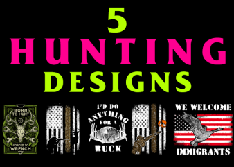 5 Hunting Designs Bundle