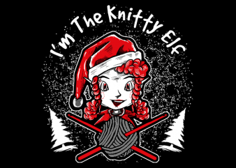 Knitty Elf t shirt design to buy