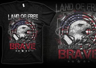 LAND OF FREE graphic t-shirt design